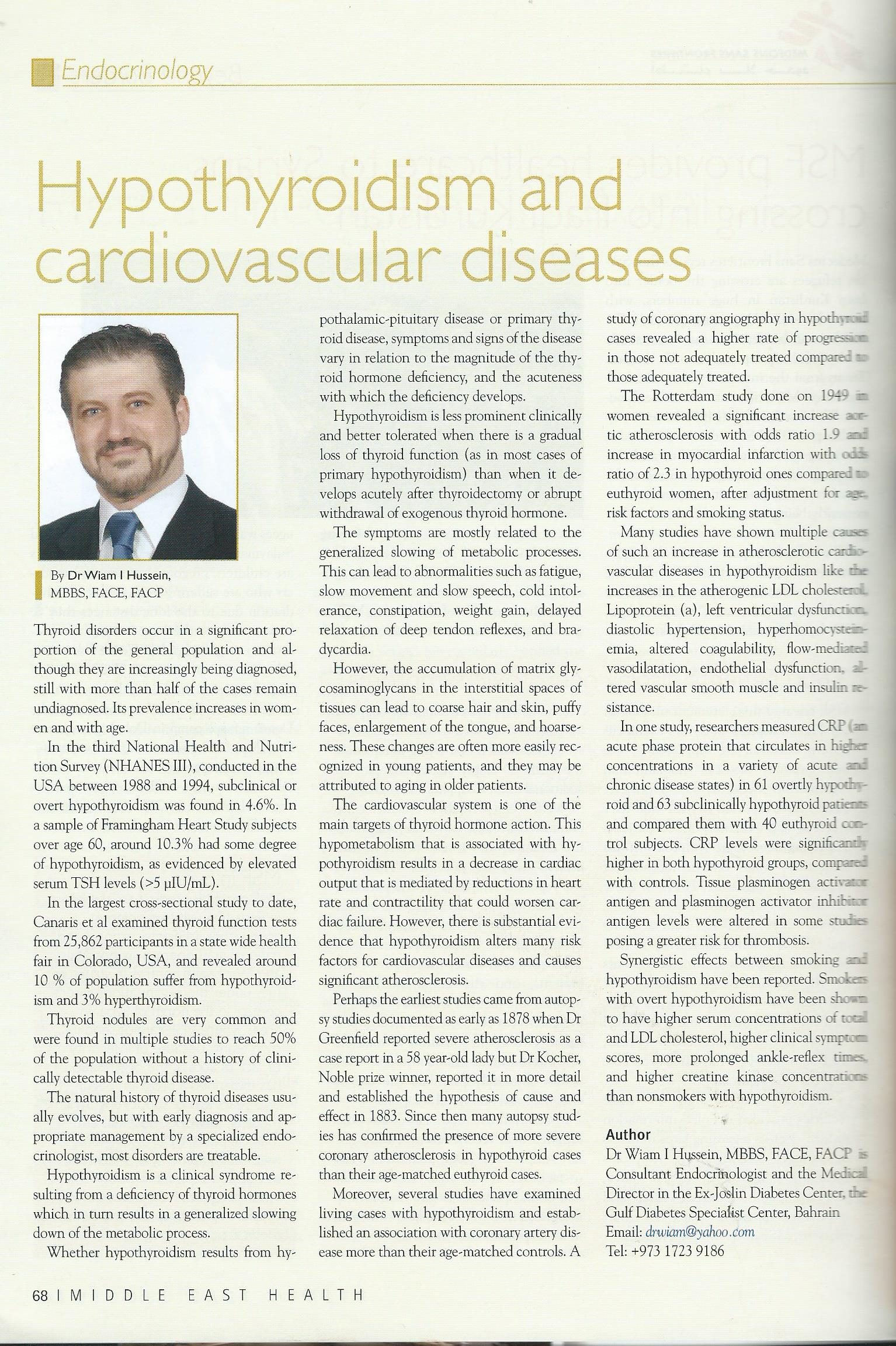 Thyroid and the Heart