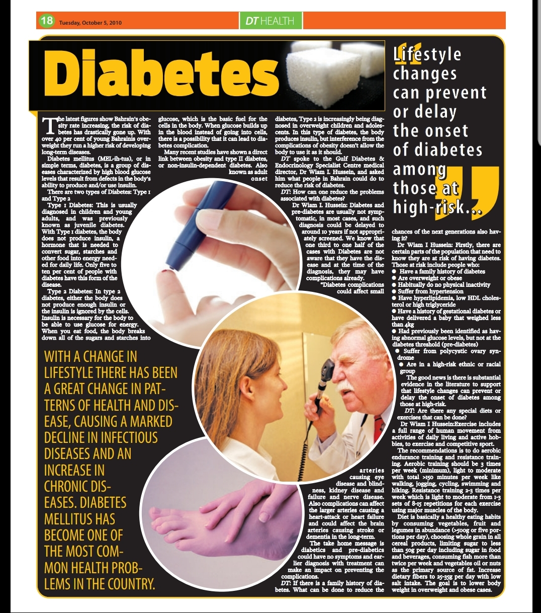 Diabetes Review by Dr Wiam